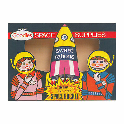 New Sweet Rations Space Rocket Retro Postcard Official Vintage Image 1960S Moon