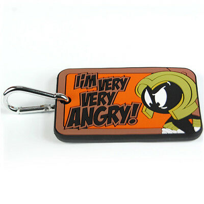 New Marvin Martian Angry Luggage Tag Retro Suitcase Travel Bag Cartoon Label