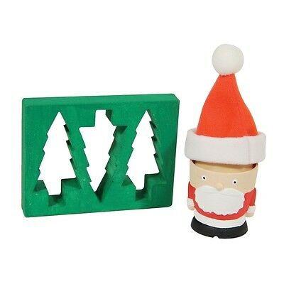 Santa Claus Egg Cup And Toast Cutter Novelty Father Christmas Gift Tree Kids