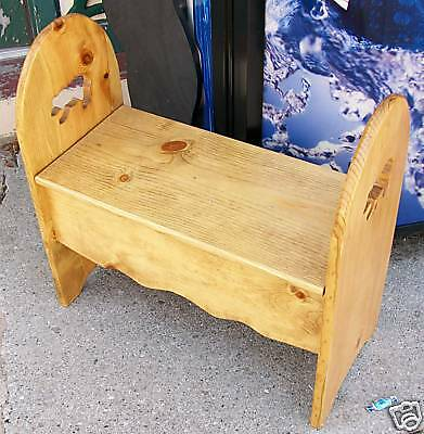 Custom Childrens Small Bench - choose stain, cut-outs!