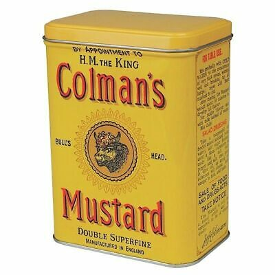 Colmans Mustard Small Hinged Tin Canister Vintage Retro Opie Advert Storage Gift