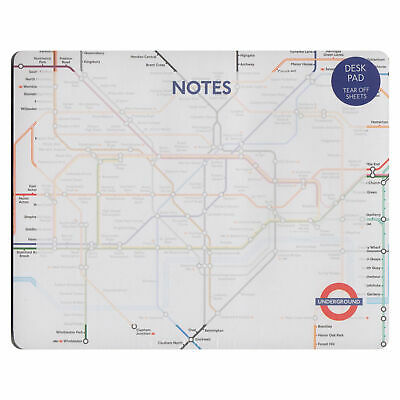 London Underground Map Tear Off Paper Mouse Mat Pad Gift Desk Notes Office