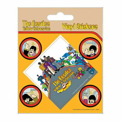 The Beatles Yellow Submarine 5 Piece Self Adhesive Vinyl Sticker Decal Car Bike