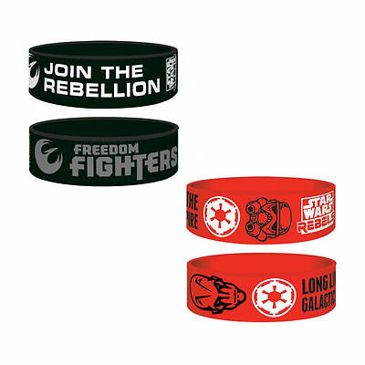 Junior Star Wars Good Vs Evil Pvc Wrist Band Rubber Printed Kids Empire Rebels