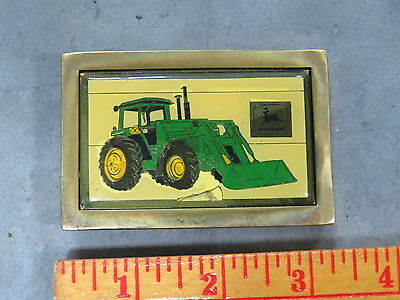 Vintage John Deere Tractor and Loader 1984 Brass Color NEAT!