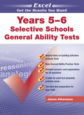 NEW Excel Test Skills : Selective Schools & Scholarship General Ability Tests By