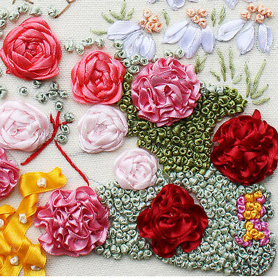 Ribbon Embroidery Kit Garden Path In Spring Needlework Craft Kit RE3054