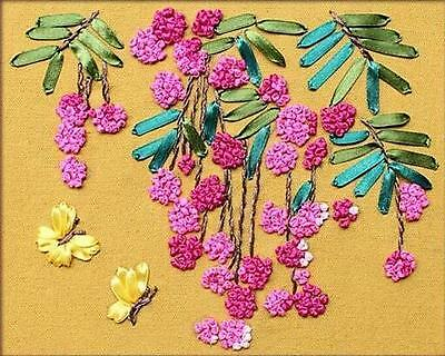 Ribbon Embroidery Kit Fruits Of The Earth Needlework Craft Kit RE3059