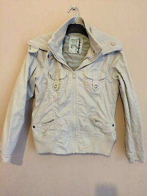 "USED, EXCELLENT CONDITION: Girls ""Next"" Beige cotton jacket, age: 9-10 years"