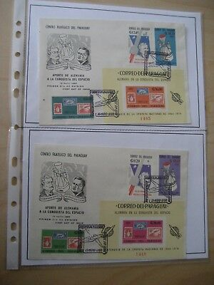 Paraguay Bl. 83+74 Weltraum/Space FDC (1965)