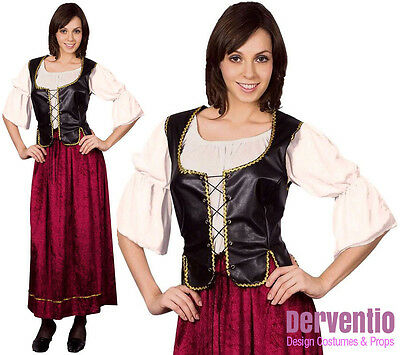 Ladies Medieval Tudor Tavern Wench Beer Maid Costume Outfit New 12-14 18-20 Plus