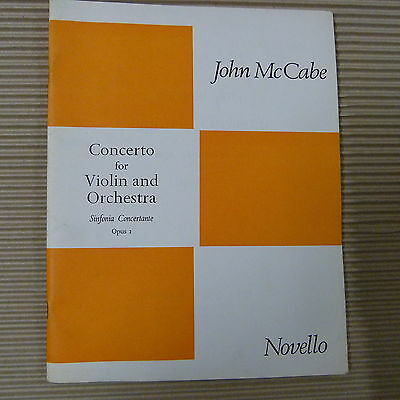 violin JOHN McCABE Concerto for Violin and Orchestra Op 2 , Sinfonia Concertante