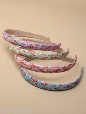 PACK OF 6 FLORAL PRINT FABRIC ALICE BANDS, 1.5cm, HAIR ACCESSORY - SP-5929 PK6