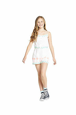 Freespirit Girls Neon and White Embroidered Playsuit