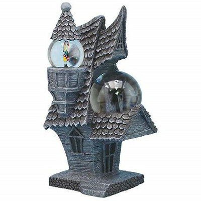 The Nightmare Before Christmas Jack and Sally House Dual Water Globes NEW BOXED