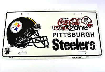 Coca-Cola Coke Pittsburgh Steelers USA Metal License Plate American Football NFL