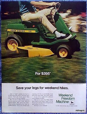 1970 John Deere Riding Lawn Tractor Save Your Legs For Weekend Hikes ad