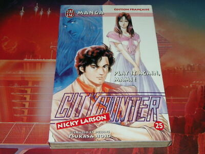 "manga city hunter no: 25 nicky larson rare hojo j'ai lu ""play it again mamy !"""
