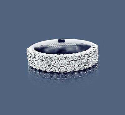 Diamant Bague Or blanc 1,01 Carat Top Wesselton blanc Brillants Manufacture Neuf