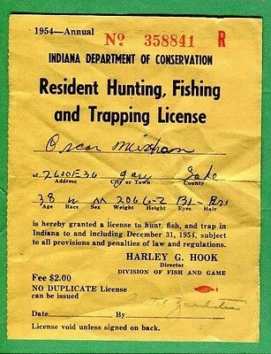 Washington 1949 resident hunting fishing license rw16 for Kansas lifetime fishing license