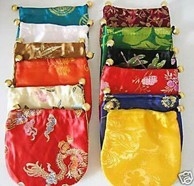 WHOLESALE A LOT CHINESE CLASSIC HANDMADE Silk BROCADE GIFT JEWELRY BAGS POUCH
