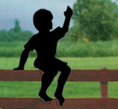 "**NEW** Lawn Art Yard Shadow/Silhouette - ""Sitting Boy"""