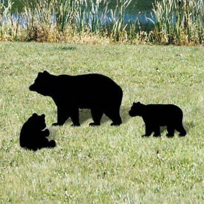NEW Lawn Art Yard Shadow/Silhouette - Mama Bear & Cubs