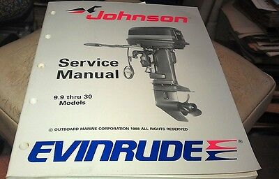 1988 JOHNSON Evinrude  Outboard Factory Service Manual - 9.9 thru 30 Models