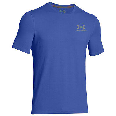 Under Armour Charged Cotton Sportstyle Gauche Poitrine Logo T-Shirt Royal