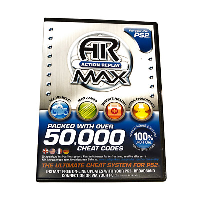 New Genuine Datel Ps2 Action Replay Max Cheat Codes System For Playstation 2