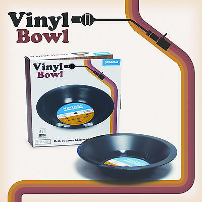 New Retro Vinyl Record Bowl Lp Dish Gift Party Novelty Fruit Vintage Fun Kitsch