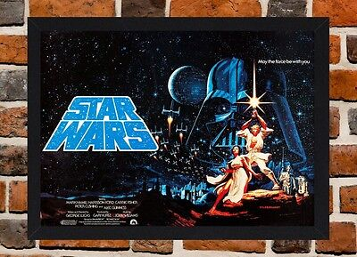 Framed Star Wars Movie Poster A4 / A3 Size In Black / White Frame (Version-5)