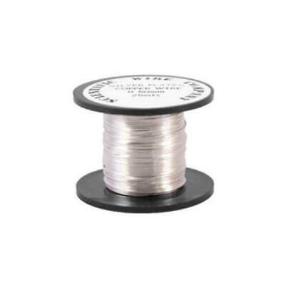 1 x Silver Plated Copper 0.2mm x 25m Round Craft Wire Coil W2020