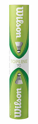 Wilson Topline 70 Feather Shuttlecocks Pack of 12 Fast 78 Competition Badminton