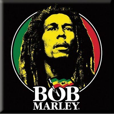 BOB MARLEY Logo Face Fridge Magnet NEW OFFICIAL Exodus Rasta Reggae Legend