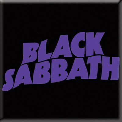 OFFICIAL BLACK SABBATH Wavy Logo Fridge Magnet Ozzy Osbourne Tony Iommi