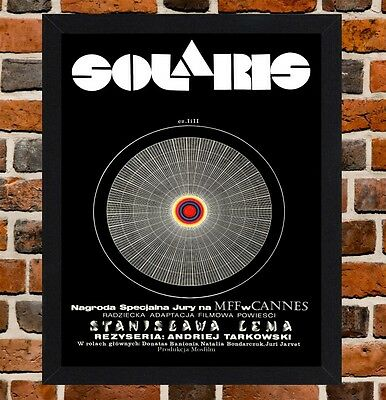 Framed Solaris Polish Movie Poster A4 / A3 Size In Black / White Frame