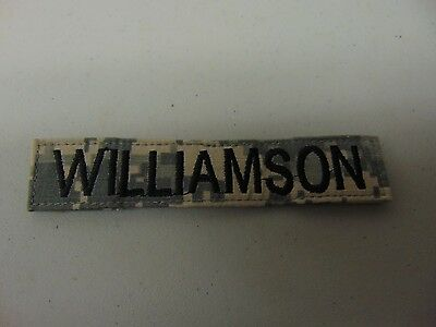 Military Us Army Patch For Acus Digital Hook Loop Back Name Tape With Williamson