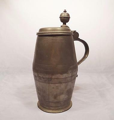 Antique 18Th Century Pewter Beer Stein