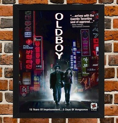 Framed Oldboy Movie Poster A4 / A3 Size In Black / White Frame