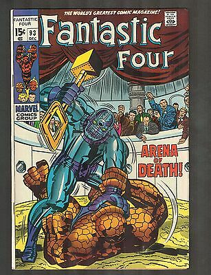 """Fantastic Four #93 ~ """"At the Mercy of Torgo!"""" ~ 1969 (7.0) WH"""