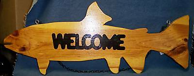 """""""Welcome"""" Fish Silhouette Sign - Other fish available!"""