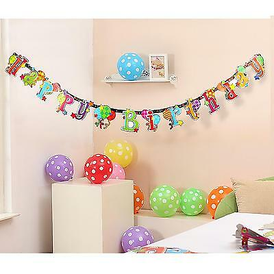 Lovely Happy Birthday Banner Bunting Garland Hanging Decoration Props Party Sign
