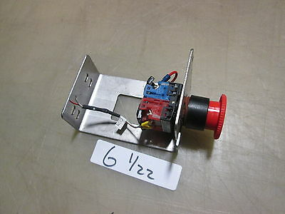 Used Emergency Shutoff Switch/Button, w/Mounting Bracket, Make Offer!!!!!!