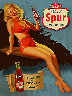 Spur Cola soda pop metal tin sign vintage style
