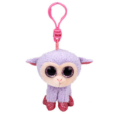TY Basket Beanie Baby - LILLI the Lamb with Plastic Clip (3 inch) - MWMTs Stuffe