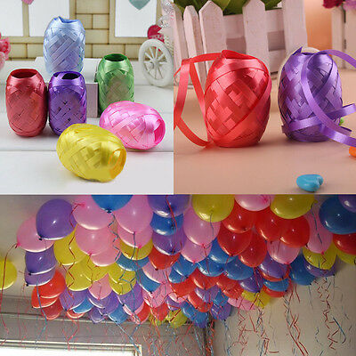 6 Roll 60M Colored Curling Balloon Ribbon Wedding Birthday Party Craft Gift Wrap