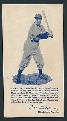 1930's DICK SIEBERT Stunning Baseball Rare Advertising Trade Card