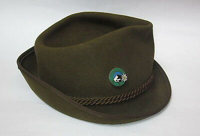 VINTAGE ANTIQUE CZECH TATRY BOY SCOUT MOUNTAINEER HAT CAP - TONAK with BADGE