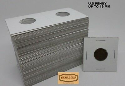 100  2X2 PENNY COIN HOLDER MYLAR FLIPS - FITS UP TO 19 mm - HIGH QUALITY #10,020